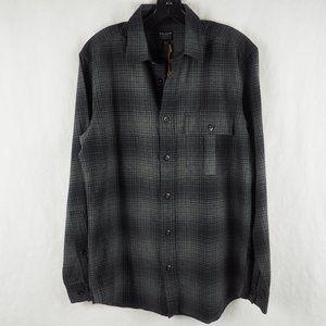 Filson Men's Rusic Oxford Shirt Cotton Black Plaid